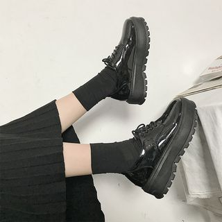 Moonwalk - Lace-Up Platform Shoes