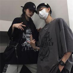Giuliana - 短袖龍印花T裇