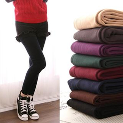 Clair Fashion - 內刷毛貼腿保暖提臀九分褲