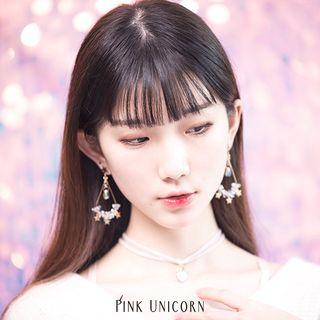 Pink Unicorn - Star Chandelier Earring