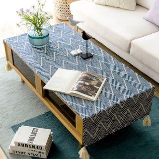 iMpressee - Plaid Tassel Coffee Table Cloth