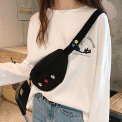 Eastin - Canvas Embroidered Sling Bag