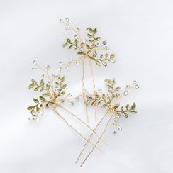 Vivian Design - Wedding Rhinestone Branches Hair Stick