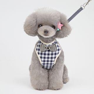 Fabcast - Bow Plaid Pet Harness