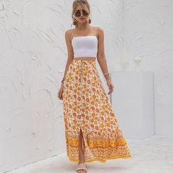 Balloww - Printed Midi A-Line Skirt