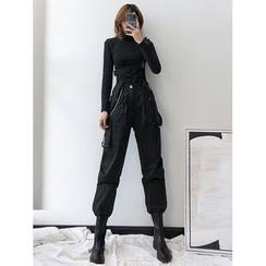 Shira - Suspender Cargo Pants