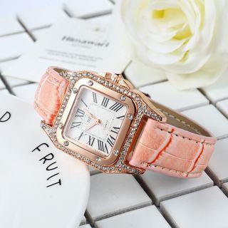 MODIYA - 羅馬數字仿皮帶式手錶