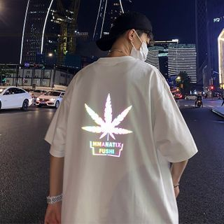 8th Sense - Short-Sleeve Reflective Leaf T-Shirt