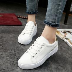 Aneka - Sneakers en faux cuir à lacets
