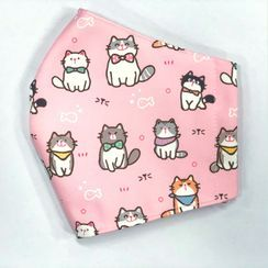 Miumi - Handmade Water-Repellent Fabric Mask Cover (Cat Print)(Adult)