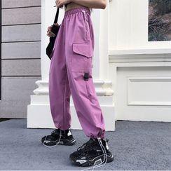 Giuliana - 抽繩腳口工裝褲