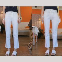 YANSAE - Semi Boot-Cut Pants