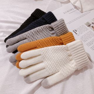 Kalamate(カラメイト) - Plain Yarn Gloves