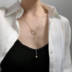 True Glam - Alloy Pendant Y Necklace