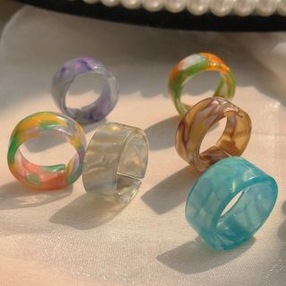 Studio Nana - Multicolored Resin Open Ring