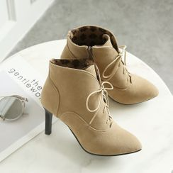 Cinnabelle - High Heel Lace Up Ankle Boots