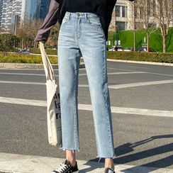 DREE - Cropped Straight-Fit Jeans