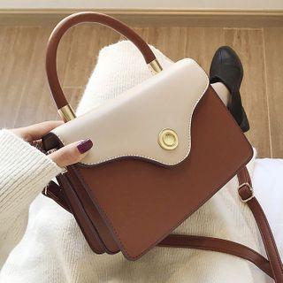 Bezac - Color Block Top Handle Crossbody Bag