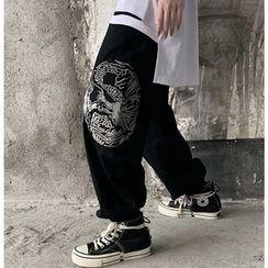 Banash - Embroidered Dragon Jogger Pants