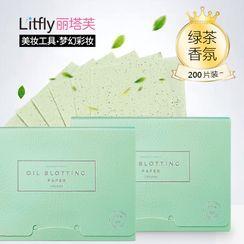 Litfly - Blotting Paper (Green Tea) (100 sheets x 2)