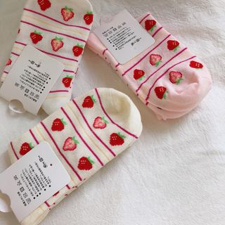Glotto - Strawberry Patterned Socks