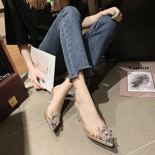 Kuptiz - 仿水晶透明细跟凉鞋