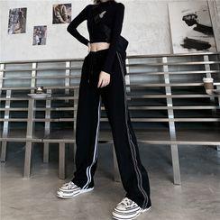 LINSI - Striped Wide-Leg Sweatpants