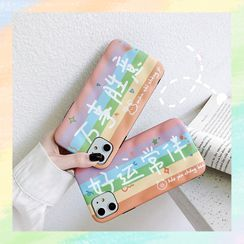 HAVK - Chinese Character Print Phone Case - iPhone 6 / 6 Plus / 6S / 6S Plus / 7 / 7 Plus / 8 / 8 Plus / X / XS / XS Max / XR / 11 / 11 Pro / 11 Pro Max