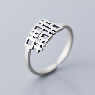 A'ROCH - 925 Sterling Silver Chinese Characters Open Ring