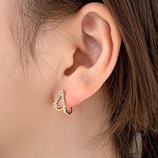 Bmuse - 水鑽耳環 / 耳掛
