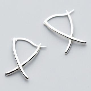 A'ROCH(エーロック) - 925 Sterling Silver Cross Drop Earring