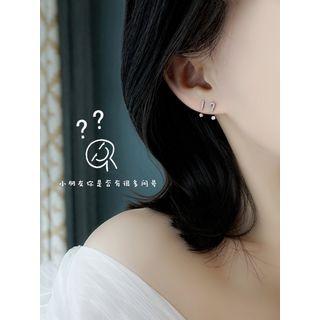 Zatanna - 925 Sterling Silver Rhinestone Stud Earring