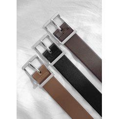 JOGUNSHOP - Square-Buckle Faux-Leather Belt