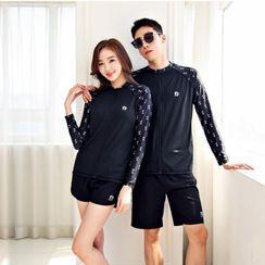 Summer Siren - Couple Matching Rash Guard / Lettering Zip Jacket / Pants / Set