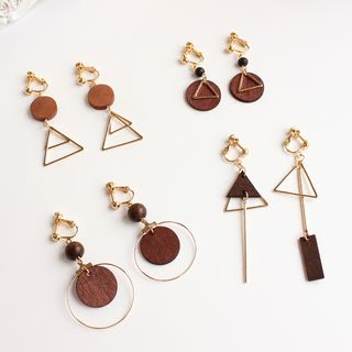 Joodii - Geometric Wooden Earring (Various Designs)