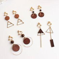 Joodii - Geometric Wooden Earring (Various Designs)
