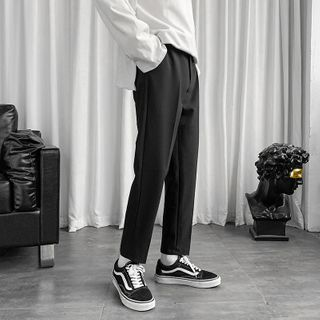 Oakjam - Cropped Straight Leg Dress Pants