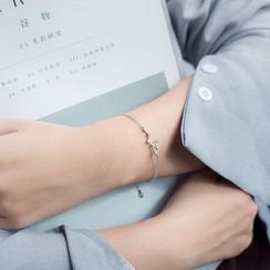 A'ROCH - 925 Sterling Silver Rhinestone Zodiac Bracelet