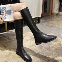 Weiya(ウェイヤ) - Faux Leather Tall Boots