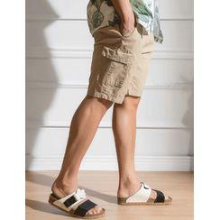 STYLEMAN - Drawstring-Waist Cargo Shorts