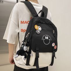EAVALURE(イーヴァルア) - Smiley Face Print Backpack