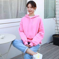 Seoul Fashion(ソウルファッション) - Kangaroo-Pocket Hoodie