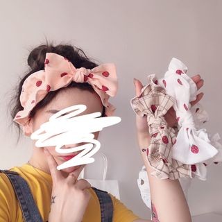 Intimo - 草莓蝴蝶结洗脸头带