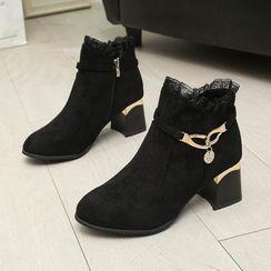 Weiya - 粗跟踝靴