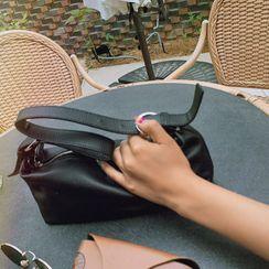 LIPHOP - Zipped Pleather Shoulder Bag