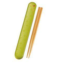 Hakoya - Hakoya Wooden Chopsticks 18cm with Case (Komemon Green)