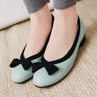 Aegina - 仿皮蝴蝶結飾低跟輕便鞋