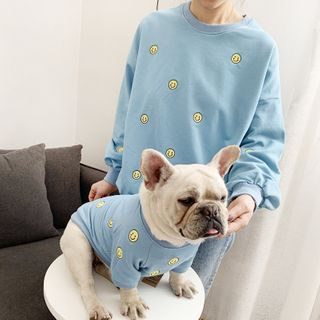 Seven Heaven - Embroidered Smiley Pet Top