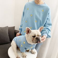 Seven Heaven(セブンヘブン) - Embroidered Smiley Pet Top