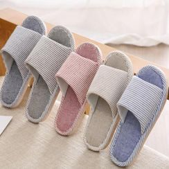 Showroom - Striped Cotton Home Slippers